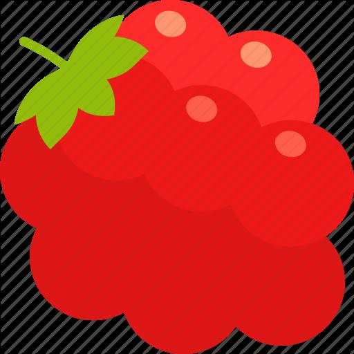 Berry, Bunch, Food, Fruit, Healthy, Leaf, Raspberry Icon