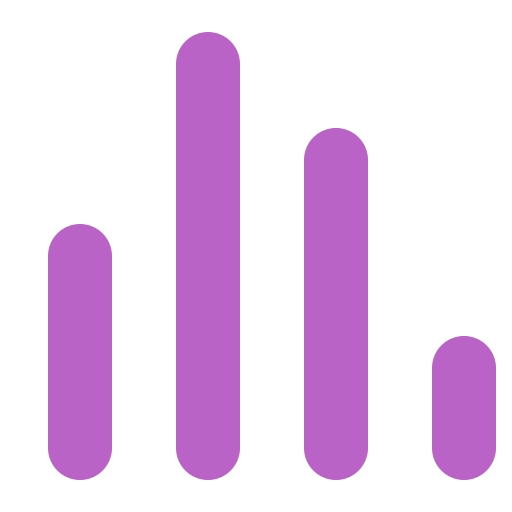 Rating, Graph, Curve, Diagram, Bars Icon Free Of Bold Purple Free