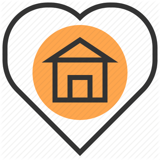 Architecture, Building, Estate, Heart, Home, House, Real Icon