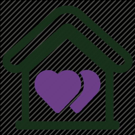 Favourite, Heart, House Icon