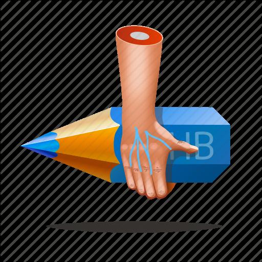 Art, Artist, Designer, Fingers, Hands, Pencil Icon