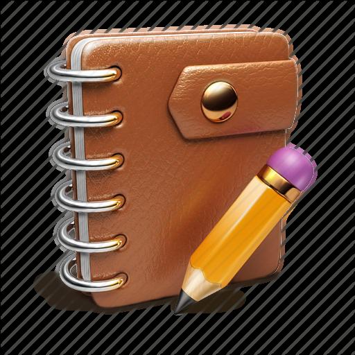 Binder, Notebook, Pencil Icon