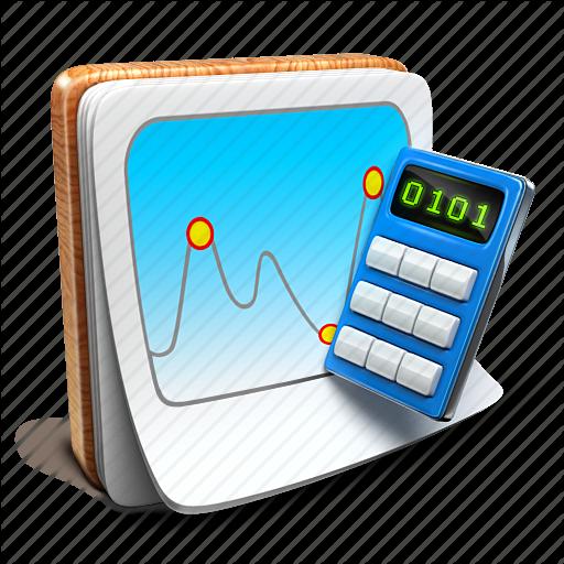 Calculator, Chart, Notepad Icon