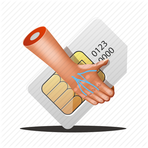 Chip, Fingers, Hands, Mobile, Sim, Simcard, Telecom Icon