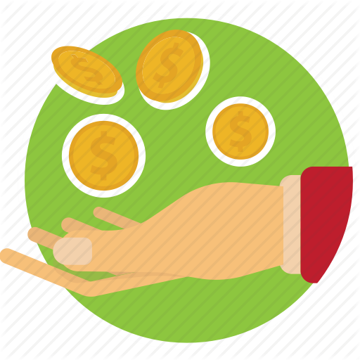 Bank, Coins, Hand, Lend, Money, Receive Icon