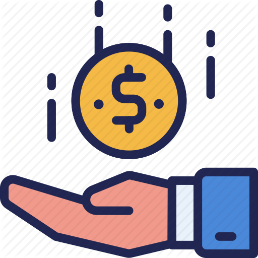 Business, Coin, Collect, Finance, Hand, Income, Receive Icon
