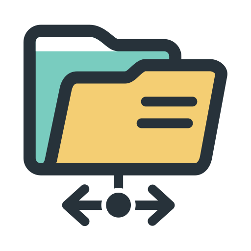 Color Block Send And Receive Files, Files, Folder Icon With Png