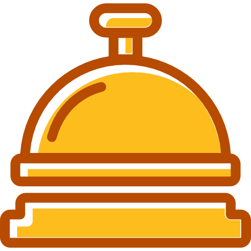 Bell, Desk Bell, Reception Icon