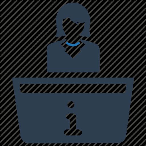 Desk, Information, Reception, Receptionist Icon