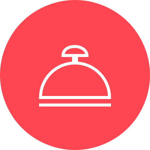 Red, Reception, Bell Icon Free Of Hotel And Spa Icons