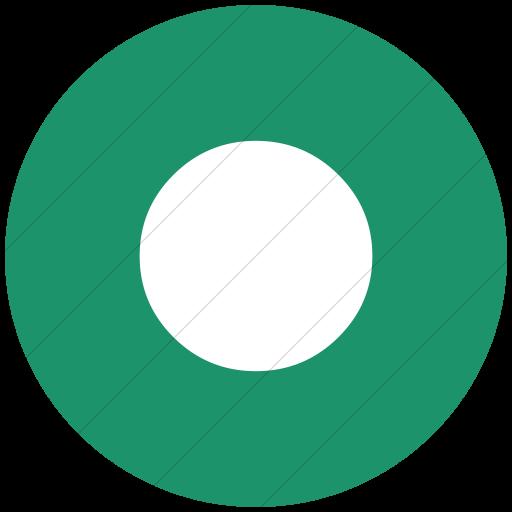 Flat Circle White On Aqua Classica Record Button Icon
