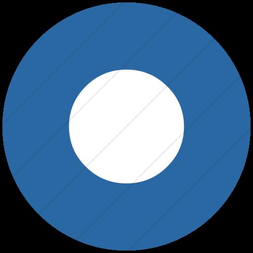Flat Circle White On Blue Classica Record Button Icon