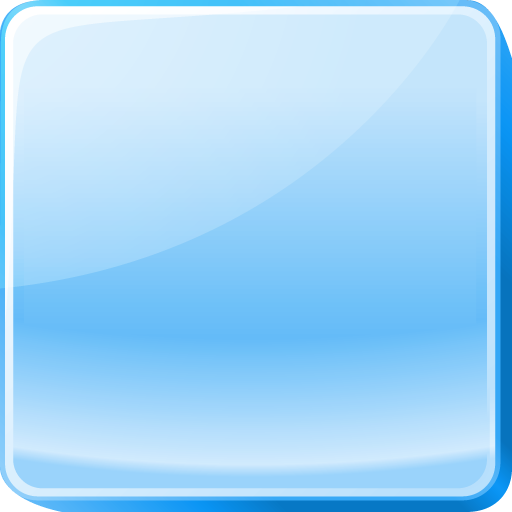 Light Blue Button, Square Icons Download Free Icons