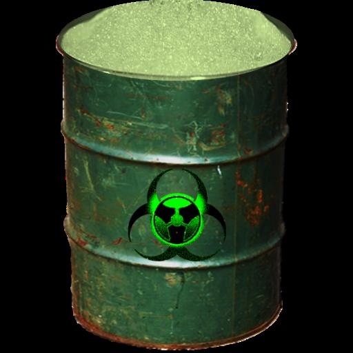 Biohazard Barrel Full Recycle Bn Icon