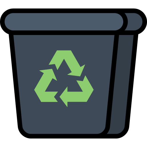 Recycling Bin Trash Png Icon