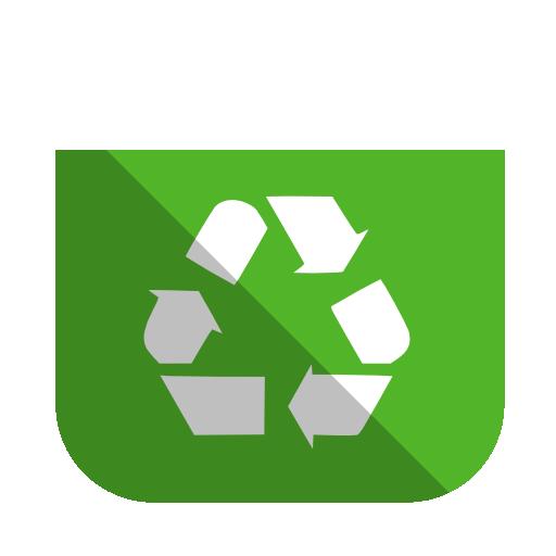 System Recycling Bin Full Icon Squareplex Iconset