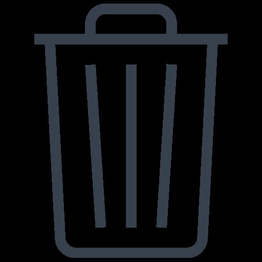 Bin, Delete, Empty, Out, Recycle, Remove, Trash Icon