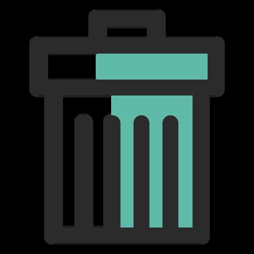 Recycle Bin Colored Stroke Icon