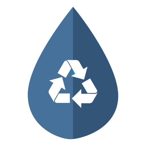 Water Drop Recycling Icon