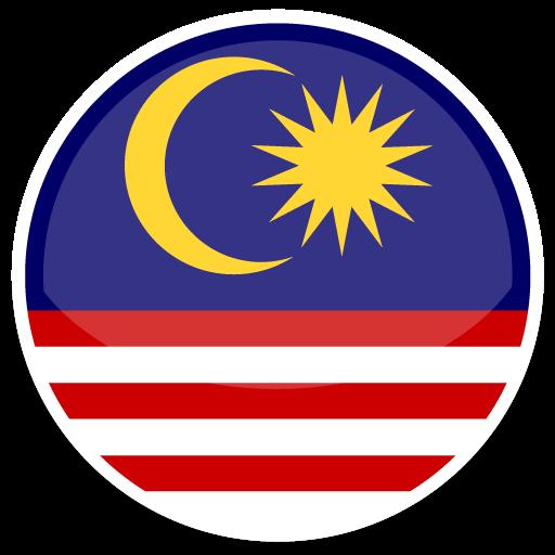 Malaysia Icon Round World Flags