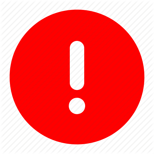 Alert, Danger, Error, Exclamation, Mark, Red Icon