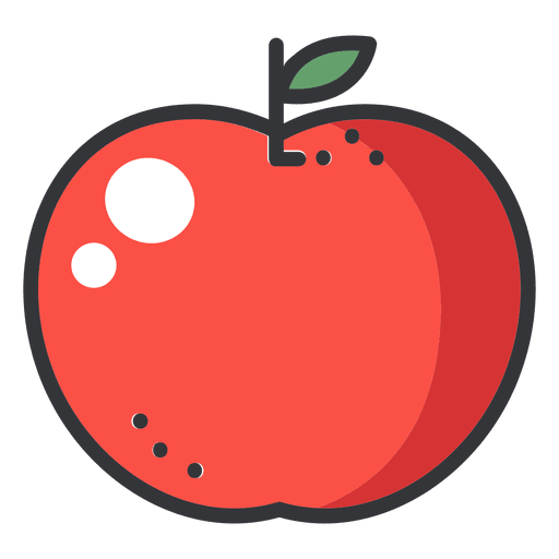 Apple Color Stroke Icon