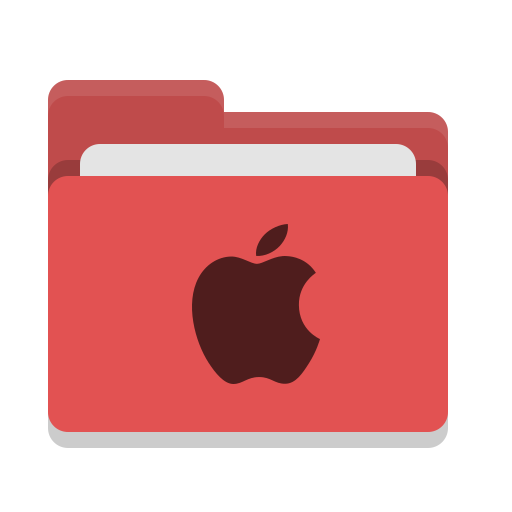Folder, Red, Apple Icon Free Of Papirus Places