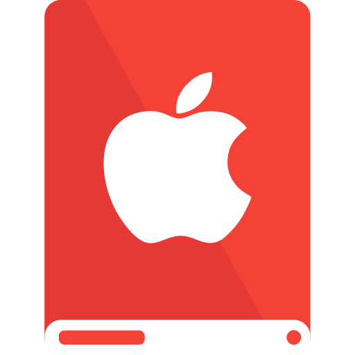 Red, White, Drive, Apple Icon