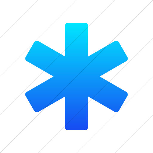 Simple Ios Blue Gradient Foundation Asterisk Icon