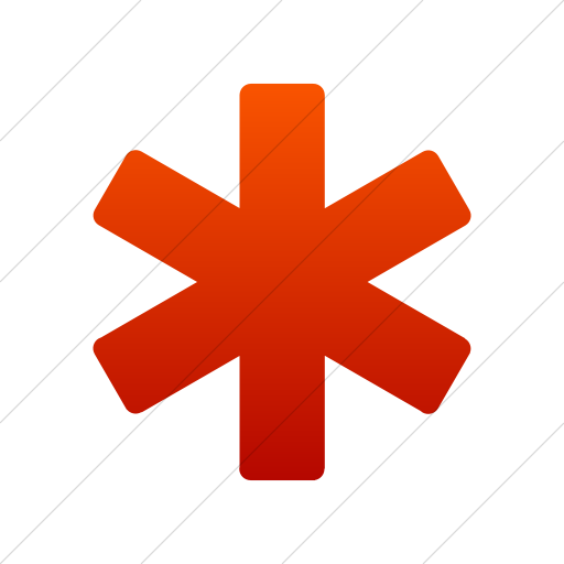 Simple Red Gradient Foundation Asterisk Icon