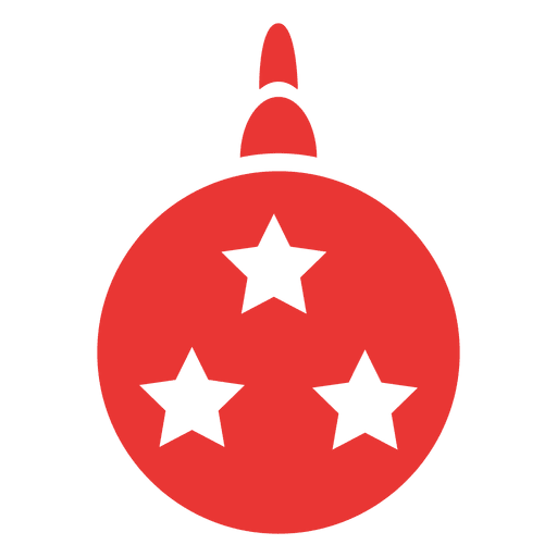 Christmas Ball Flat Icon Red