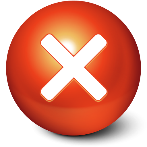 Cute Red Stop Ball Icon Png