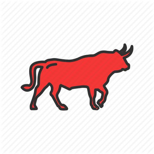 Animal, Bull, Bull Market, Red Bull Icon
