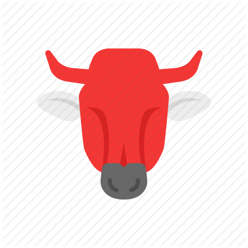 Animal, Bull, Red Bull, Stock Market Icon