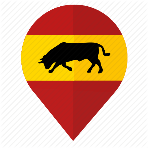 Bull, Espana, Flag, Location, Pointer, Span