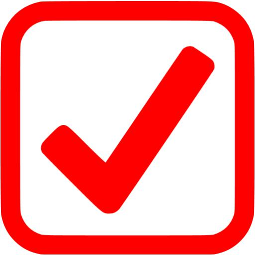 Red Checked Checkbox Icon