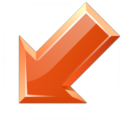 Iconexperience V Collection Arrow Down Left Red Icon