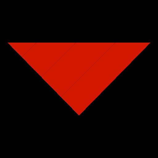 Simple Red Classica Volume Down Arrow Icon