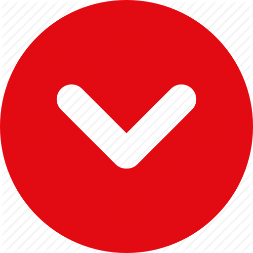 Red Down Arrow Icon