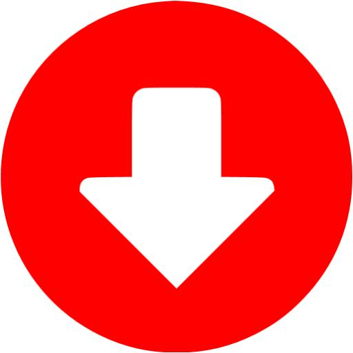 Red Down Circular Icon