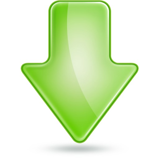 Green Down Arrow Icon Free Icons Download