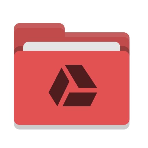 Folder, Red, Google, Drive Icon Free Of Papirus Places