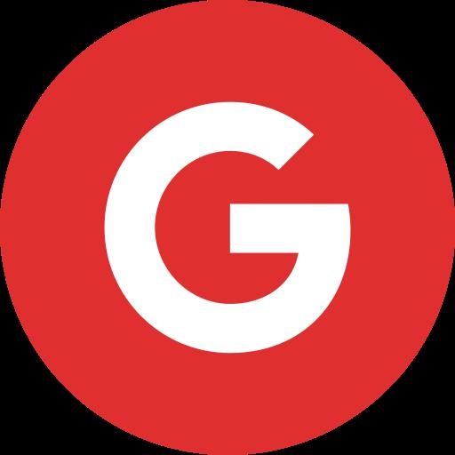 Google Flat Crimson Icon