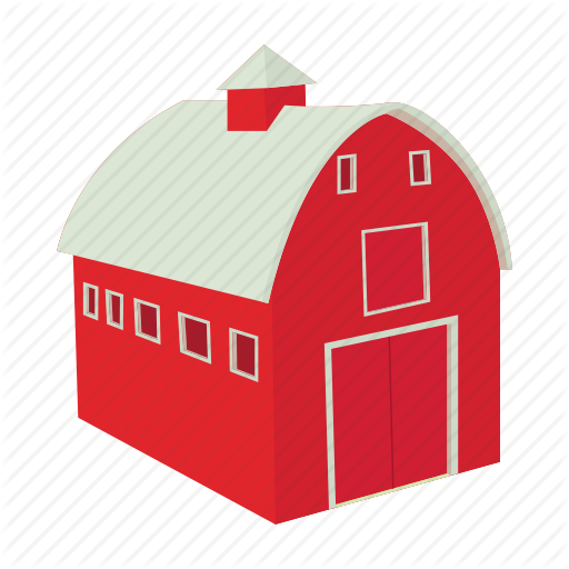 Barn, Cartoon, Door, Farm, House, Red, Wooden Icon