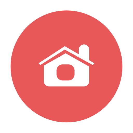 Main, Index, Mainpage, Red, Circular, Home, Modern Icon