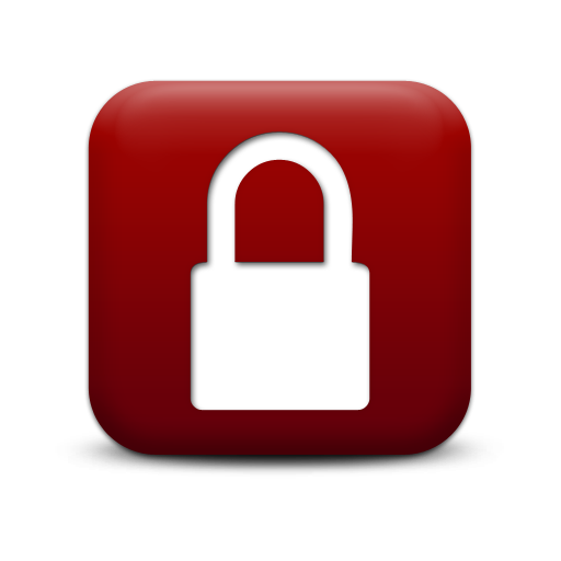 Red Lock Icon Images
