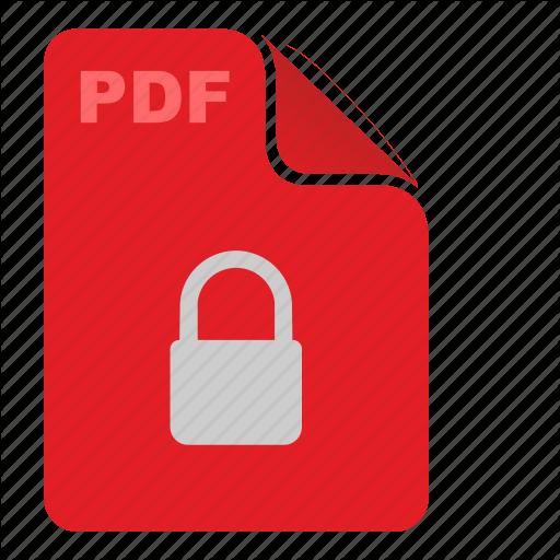 Api, Document, File, Lock, Pdf, Red, Security Icon