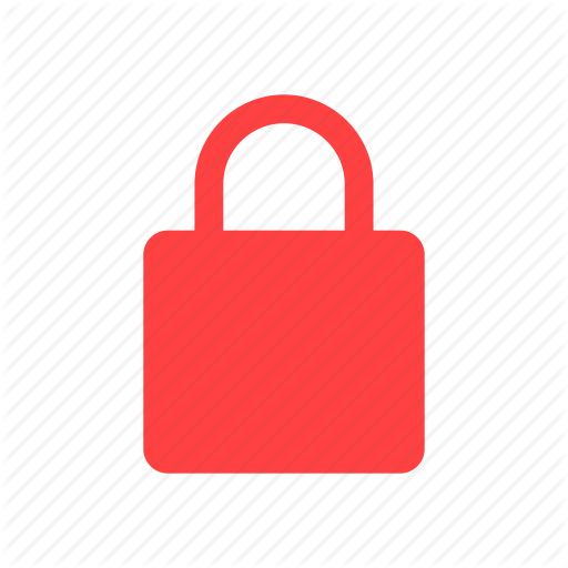 Lock, Privacy, Red, Safe, Secure, Security Icon