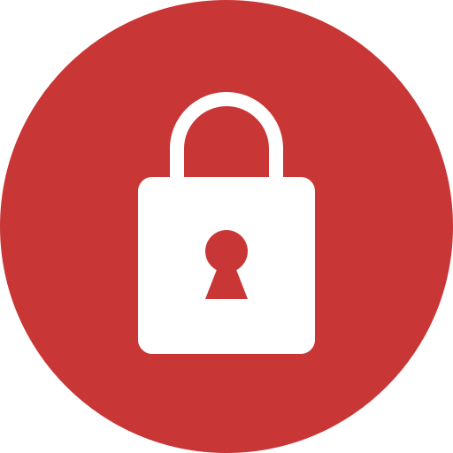 Lock, Red Icon Free Of Web Ui Color