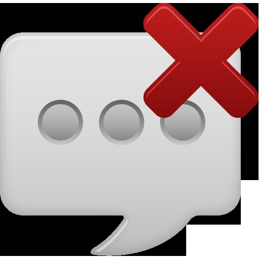 Message Bubble Delete Icon Pretty Office Iconset Custom
